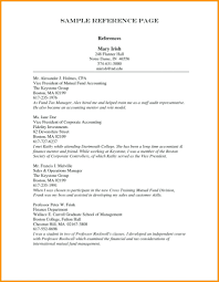 Reference List Resume References List Template For Resume Templates Reference Format Job