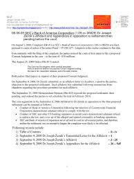 09 09 09 Sec V Bank Of America Corporation 1 09 Cv 06829 Dr