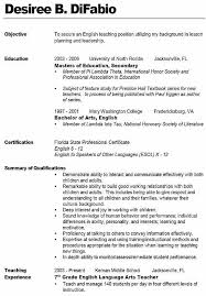 Teacher Resumes Examples Gorgeous New Teacher Resume 48 Beautiful Idea Elementary Examples 48 48 Best