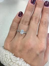 1 carat diamond size 1 carat solitaire on size 5 finger
