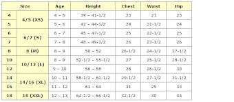 Kids Dress Measurement Chart Bedowntowndaytona Com