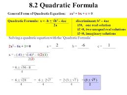 4 8 2 quadratic formula