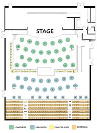 15 Table Seating Chart Seating Charts Tupelo Music Hall