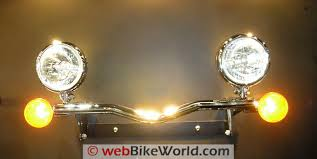 motorcycle driving lights webbikeworld auxiliary lights on light bar