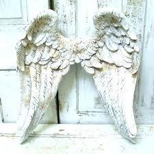 metal angel wings wall decor medium size of art wooden white uk ang