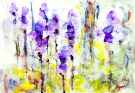 original art for at ugallery com irises by karin johannesson 450
