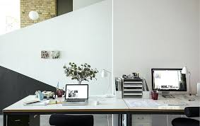 home office with two desks. Ikea Home Office Ideas For Two Working A Desks Side By With