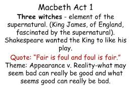 macbeth william shakespeare ppt video online  macbeth act 1 three witches element of the supernatural king james of