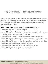 Postal Clerk Resume Sample Top224postalserviceclerkresumesamples224507070224202240lva224app62249224thumbnail24jpgcb=224243625725224 17