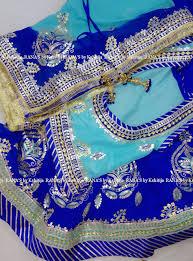 Latest Design Of Rajputi Poshak Rajputi Poshak Combination Of Gorgeous Blues Aari Resham
