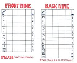 Golf Score Card Template Golf Scorecards Printable Hashtag Bg