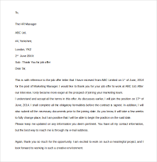 Job Offer Thank You Letter Thank You Letter For Job Offer Accepted 2018 Letters Thank You