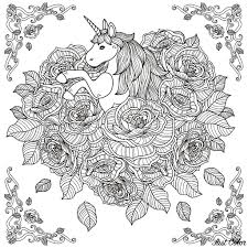 Unicorn Mandala Unicorns Adult Coloring Pages