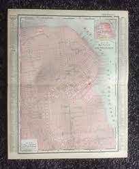 Vintage Original Map 1897 San Francisco, Eaton & Mains, Rand McNally | eBay