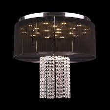 worldwide lighting alice 9 led light 20 in round ceiling light black shade