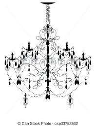 abstract chandelier vintage element with ornate elegant design 4 light crystal