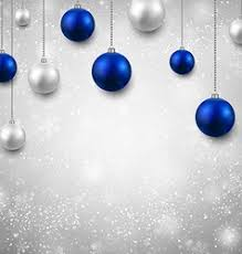 Blue Silver Christmas Holiday Invitation Vector Images Over 240