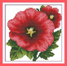 Easy Cross Stitch Patterns Awesome Joy Sunday Floral Style Tropaeolum Majus Counted Free Quick And Easy