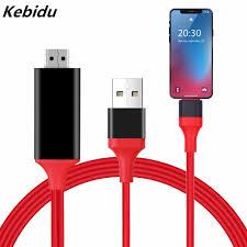 Kebidu 8 Pin Sang HDMI HDTV TV Digital AV Adapter USB HDMI 1080P Thông Minh  Cáp Chuyển Đổi Cho Apple tivi Cho iPhone 7 6S Plus|Cáp HDMI