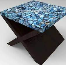 Minimal design meets the luxest of materials in this statement coffee table. 24 Marble Blue Square Agate Table Coffee Top Handcrafted Furniture Decors E1265 Ebay