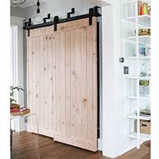 sliding barn doors for closets. Interesting For WINSOON 4ft Bypass Barn Door Hardware Sliding Kit 416FT For Interior  Exterior Cabinet Closet To Doors For Closets R