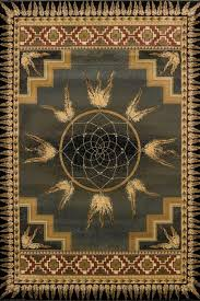 dream catcher green native american southwestern area rug