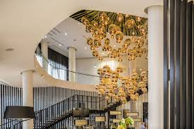 hotel lobby lighting. Tom Dixon Lighting As Featured In The Hotel Lobby Of New Hilton Estonia.
