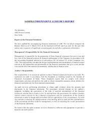 Template Audit Report Sample Auditor Report Under Fontanacountryinn Com