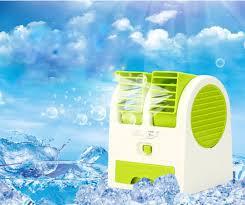 Quạt Điều Hòa Mini 1- 2 Cửa dodiengiare 3 Chức Năng (Mát, Lạnh, Thơm) - Quạt  hơi nước mini có khay chứa đá 1 - 2 cửa để bàn (Màu ngẫu nhiên)