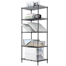 5 tier wood freestanding shelving unit adjule wire storage organizer heavy duty metal shelves 5 tier plastic freestanding shelving unit