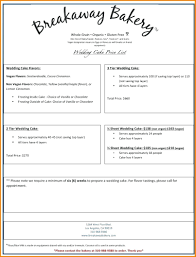 Template: Salon Inventory Template Wedding Cakes Price List Cake ...
