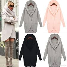 winter coats best 2017 winter womens tweed coats long sleeve hooded plus size outerwears with pocket
