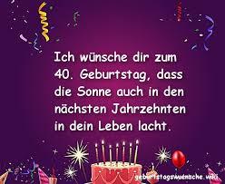 Glückwünsche Zum 40 Geburtstag Geburtstagswuenschewiki