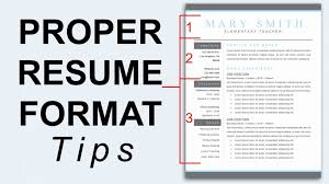 Proper Format For A Resume Mesmerizing What Is The Resume Format Luxury Proper Resume Format Resume