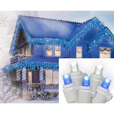Led Christmas Blue Icicle Lights Brite Star Set Of 70 Pure White And Blue Led Icicle
