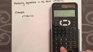 factoring a simple quadratic equation using a calculator sharp el