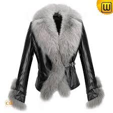 women black leather fur jackets cw611205 jackets cwmalls com