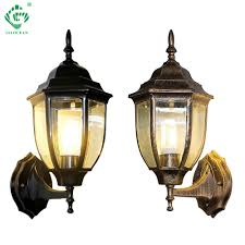 Garage Outdoor Wall Lights Us 28 42 21 Off Outdoor Wall Sconce Black Bronze Wall Lamp E27 Bulb Up Down Lights Garden Coach Yard Outside Exterior Garage Sconces Porch Light In