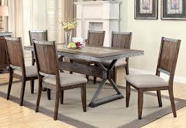 Style Reclaimed Wood Dining Table And BenchesIndustrial Look Dining Table