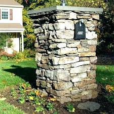 stone mailbox designs. Stone Mailbox Kit Column With Build Designs Stacked Kits Veneer Mailboxes .