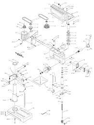 drill press parts. exploded art drill press parts