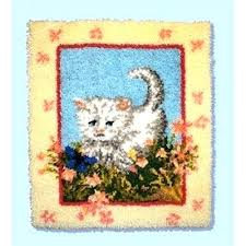 cat puzzle rug cat puzzle rug kitty and flowers latch hook cat puzzle rug cat toy