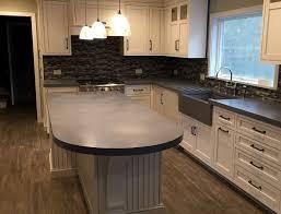 concrete kitchen island, engineered concrete, verdicrete, custom concrete  countertops, westchester