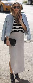 Gorgeous maxi skirts outfits ideas Designs Striped Top Maxi Skirt Outfit Stayglam 25 Maxi Skirt Outfits Ideas Stayglam
