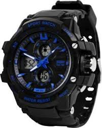 sports watches for men women online at best prices in skmei 0990blu rugged analog digital watch for men