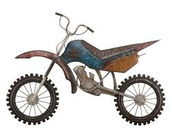 on metal dirt bike wall art with rocket cycle metal wall hanging