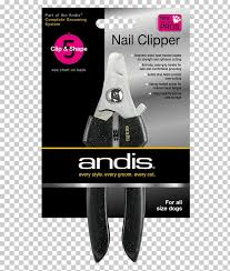 Andis Grooming Chart Hair Clipper Dog Nail Clippers Andis Dog Png Clipart Free