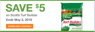 the home depot garden club printable s save 5 on scotts turf builder