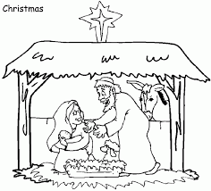 Small Picture Coloring Pages Christmas Nativity Scene Coloring Page Free
