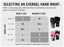 Hand Gloves Size Chart Womens Everstrike Training Gloves